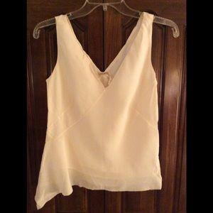 MAXSTUDIO.COM Silk Sleeveless Asymmetrical Hem Top